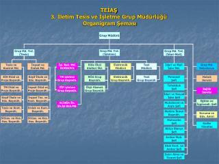 TEİAŞ 3. İletim Tesis ve İşletme Grup Müdürlüğü  Organigram Şeması