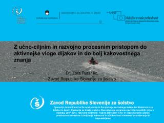 Dr. Zora Rutar Ilc, Zavod Republike Slovenije za šolstvo