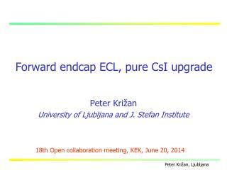 Forward endcap ECL, pure CsI upgrade