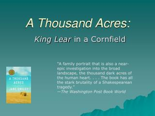 A Thousand Acres: