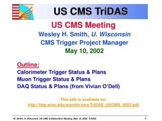 US CMS TriDAS