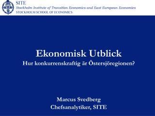 Ekonomisk Utblick Hur konkurrenskraftig är Östersjöregionen?