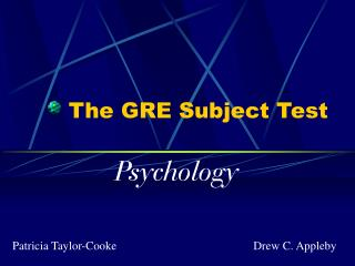 The GRE Subject Test