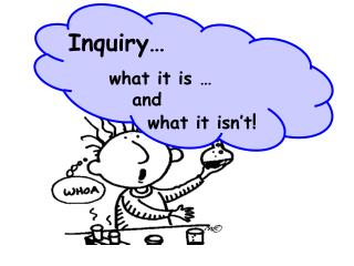 Inquiry           what it is              and               what it isn t