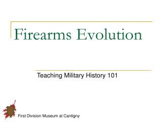 Firearms Evolution