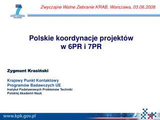 Polskie koordynacje projektów w 6PR i 7PR