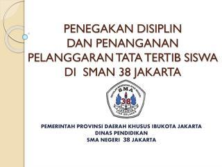 PENEGAKAN DISIPLIN   DAN PENANGANAN PELANGGARAN TATA TERTIB SISWA  DI  SMAN 38 JAKARTA
