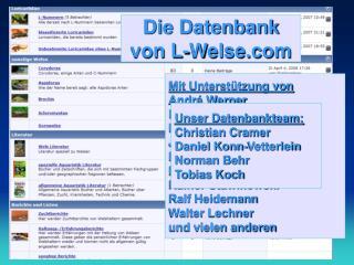 Die Datenbank von L-Welse