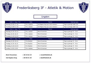 Frederiksberg IF - Atletik & Motion