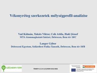Vékonyréteg szerkezetek mélységprofil-analízise