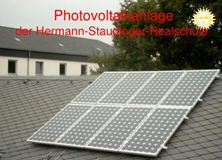 Photovoltaikanlage der Hermann-Staudinger-Realschule
