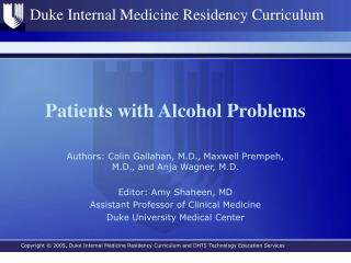 Patients with Alcohol Problems