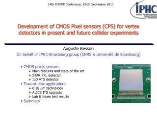 On behalf of IPHC-Strasbourg group (CNRS & Université de Strasbourg)