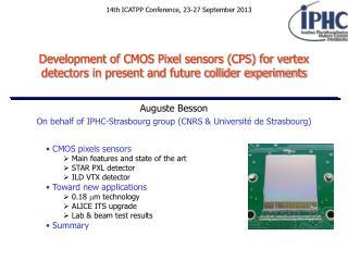 On behalf of IPHC-Strasbourg group (CNRS & Université de Strasbourg)