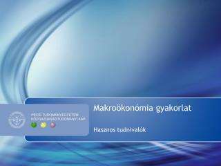 Makroökonómia gyakorlat