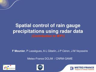 Spatial control of rain gauge precipitations using radar data (Contribution to WP1)