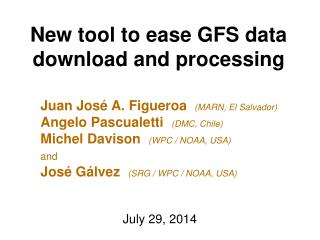 New tool to ease GFS data download and processing