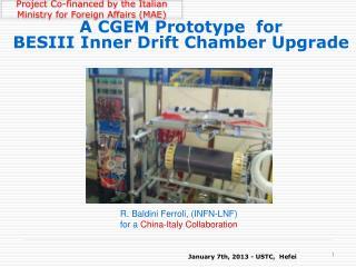 A CGEM Prototype  for  BESIII Inner Drift Chamber Upgrade