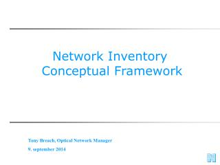 Network Inventory  Conceptual Framework