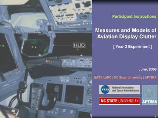 Measures and Models of Aviation Display Clutter