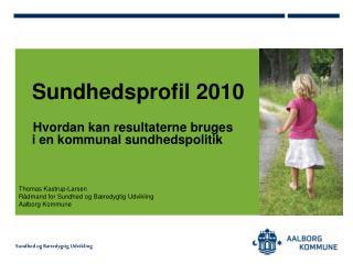 Sundhedsprofil 2010      Hvordan kan resultaterne bruges  i en kommunal sundhedspolitik
