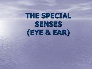 THE SPECIAL SENSES (EYE & EAR)