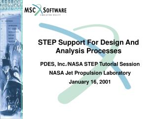 STEP Support For Design And Analysis Processes