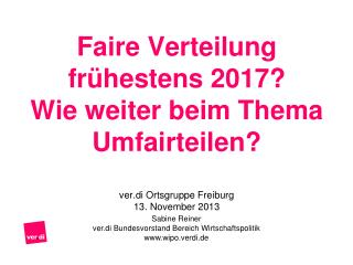 Sabine Reiner ver.di Bundesvorstand Bereich Wirtschaftspolitik  wipo.verdi.de