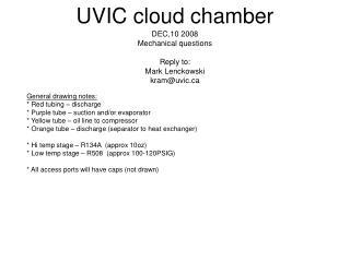 UVIC cloud chamber