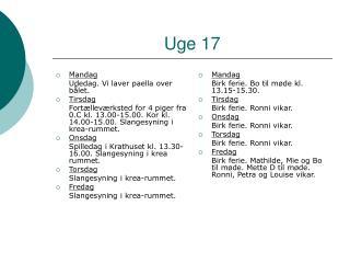 Uge 17