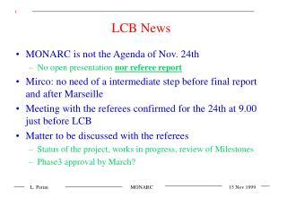 LCB News