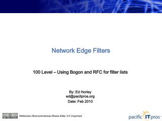 Network Edge Filters
