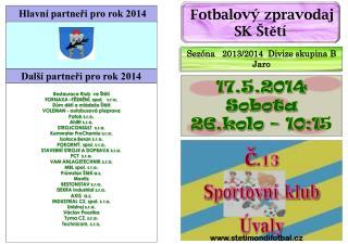 č.13 Sportovní klub  Úvaly