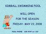 KIMBALL SWIMMING POOL