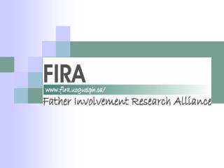 Father Involvement Research Alliance