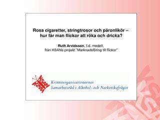 Rosa cigaretter, stringtrosor och päronlikör –  hur får man flickor att röka och dricka?