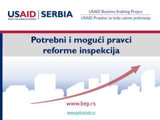 Potrebni i mogući pravci reforme inspekcija