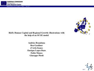R&D, Human Capital and Regional Growth: illustrations with the help of an SCGE model