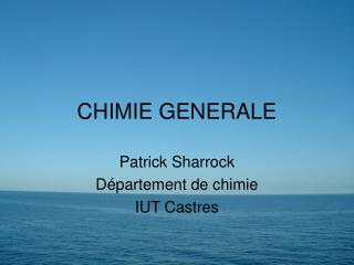 CHIMIE GENERALE