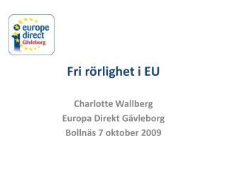 Fri rörlighet i EU