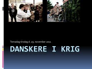 Danskere i krig