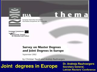 Joint  degrees in Europe