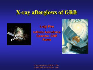 X-ray afterglows of GRB