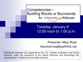 Competencies� Building Blocks or Buzzwords An                      Webcast
