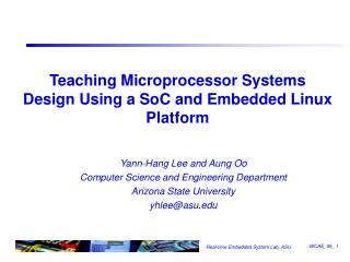 Teaching Microprocessor Systems Design Using a SoC and Embedded Linux Platform