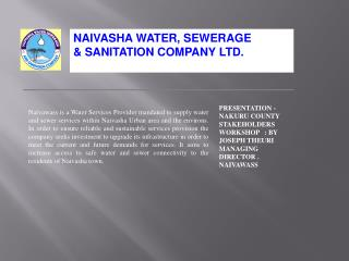 NAIVASHA WATER, SEWERAGE & SANITATION COMPANY LTD.