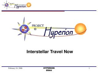 Interstellar Travel Now