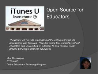 Open Source for Educators
