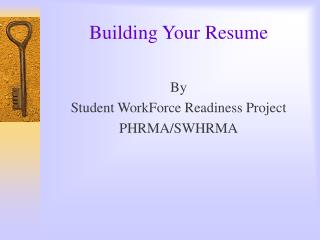 Building Your Resume