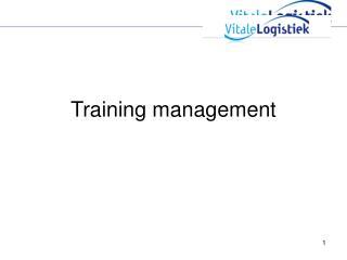 Training management